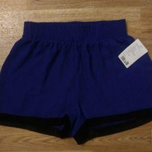 NWT Silence + Noise Blue Flowy shorts